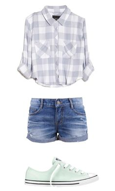 """""""Outside"""" by cuteadrin ❤ liked on Polyvore featuring Rails and Converse"""