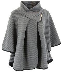 Veste cape femme hiver
