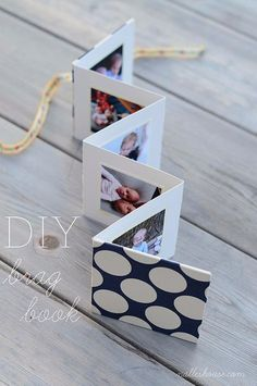 DIY Mothers Day Cards - Adorable Photobook Card - Creative and Thoughtful Homemade Card Ideas for Mom...Love these!