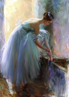 Ballerina by Constantine Lvovich in oil.