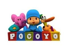 use the pic as an idea for cake. use kid's names in the blocks instead of pocoyo
