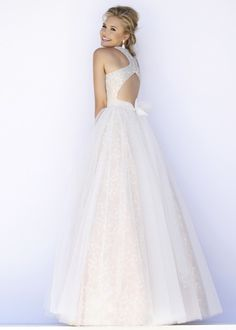 Long Halter High Neck Open Back Beaded Tulle Ivory Prom Dress