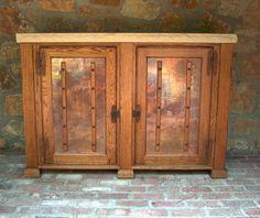Outdoor Oak Refrigertor Console With Copper Doors And Chiseled Edge  Limestone Top C. Buffet CabinetCabinet DoorsDoor BarMini FridgeWine ...