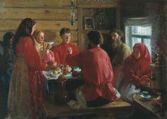 (101) Gallery.ru / Базар в Муроме. 1907 - ИВАН КУЛИКОВ-БЫТОПИСЕЦ РУССКОЙ ЖИЗНИ - lenadep