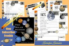 Beautifully designed and totally FREE Solar System Notebooking Pages for your homeschool or class room. Students work together or individually while gathering data.