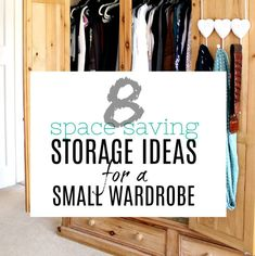 Ready to gain more space in your small wardrobe? Try these amazing storage ideas now and make the most of your tiny closet. Quick tips that will make all the difference.