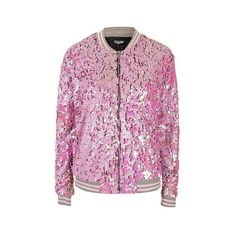Pink Iridescent Sequin Bomber by Jaded London (€120) ❤ liked on Polyvore featuring outerwear, jackets, pink, pink bomber jacket, bomber jacket, sequin bomber jacket, topshop and topshop jacket
