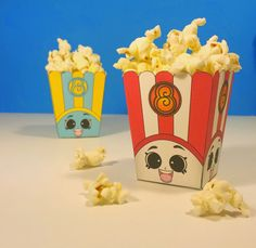 Poppy Corn Popcorn Boxes in Red & Blue for the perfect Shopkins Birthday Party