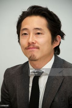 Steven Yeun at 'The Walking Dead' Press Conference at the Four Seasons Hotel on April 20, 2015 in Beverly Hills, California.