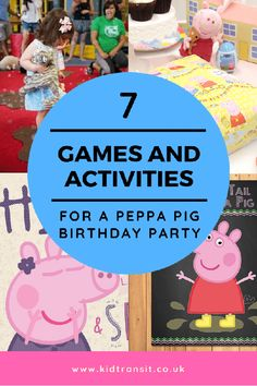7 Peppa Pig theme party games and activities to play at your child's first birthday party #peppapigparty #peppapigbirthday #partygames #kidsparty #firstbirthday #birthdaypartyideas