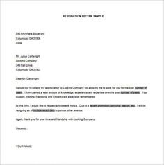 sample of resignation letters simple resignation letter template free word excel pdf