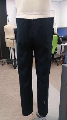 First stages of making tailored jeans