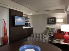 One of our gorgeous and roomy suites (living room photo). A perfect Tacoma hotel room.