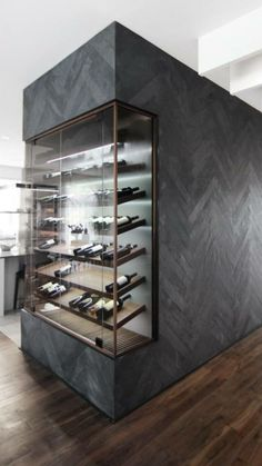 A wine cellar display cabinet so you can show off your best bottles in style