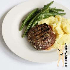 """WHATS FOR DINNER? BikiniBodyMommy.com """"Steak Sirloin & Mash-faux-tatoes!"""" SO SIMPLE, GLUTEN-FREE, HUSBAND-APPROVED and SERIOUSLY AMAZING!"""