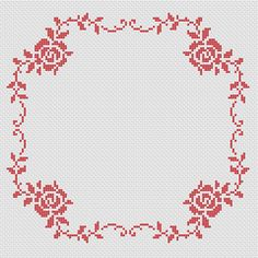 Roses Border free cross stitch pattern