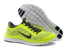Nike Free 3.0 V5 Womens Fluorescence Green Running Shoes
