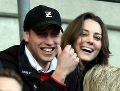 10 February 2007: Prince William and his girlfriend Kate Middleton enjoy the rugby as England play Italy in the RBS Six Nations Championship at Twickenham