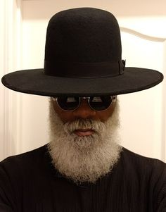 Rasta Style Wide brim Stetson Berkeley Hat Co. Beard Game, Epic Beard, Beautiful Men, Beautiful People, Black Men Beards, Dandy, Beard Styles For Men, Afro Punk, Brim Hat