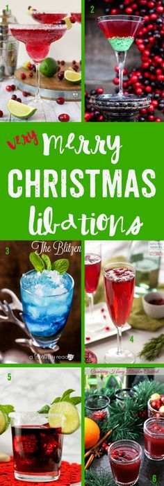 Very Merry Christmas Libations to get the MERRY going in your holidays!!! Crowd-pleasing holiday cocktails for every occasion and party.  http://TablerPartyofTwo.com