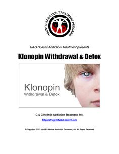klonopin side effects withdrawal