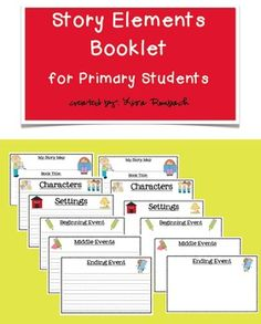 Story Map Booklets (basic story elements) for Primary Students (differentiate with a version for writing sentences and a version for drawing pictures) $