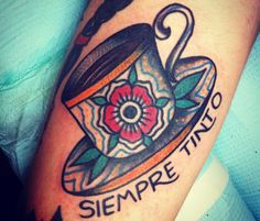 Tatuajes de café, para los amantes de la cafeína