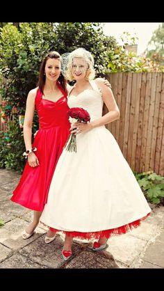 Dress tea length red