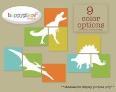 Printable Dinosaur Wall Art for INSTANT DOWNLOAD  by HappyPlaceArt, $12.00