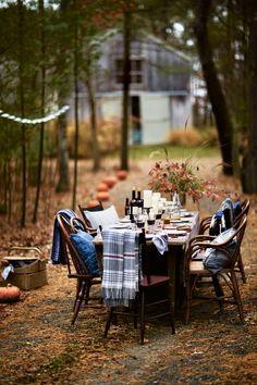 ... autumn splendour, pumpkins and dining outdoors | fall table