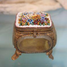 Antique Micro Mosaic jewelry casket, 19th century