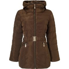 Girls On Film Girls On Film Belted Puffa Coat With Faux Fur Trim