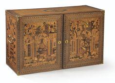 Cabinet en marqueterie de bois fruitier, Allemagne du sud, fin du XVIIe siècle | lot | Sotheby's