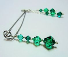 Emerald Clit Clamp Clitorial Jewelry Non Piercing by sexy2wear
