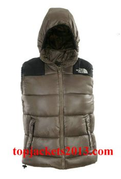 The North Face Outlet Mens Summit Series Hoodie Down Vest Grey Black