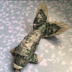 Origami dollar koi fish