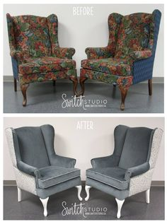 We Thought Weu0027d Share These Lovely Wing Back Chairs For # ThrowBackThursday    We Reupholstered These To Go At The Ends Of Our Clientu0027s Dining Table, ...
