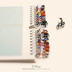 "26.7k Likes, 73 Comments - 田中達也 Tatsuya Tanaka (@tanaka_tatsuya) on Instagram: "". 8.29 tue ""Bicycle Parking"" . 駐輪場としても使える、 MINIATURE LIFE カレンダー 2018年版。 書店、Amazonにて予約受付中です。…"""