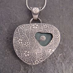 beach glass pendant | by downtothewiredesigns