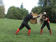 Some very interesting points about probable historical fighting techniques with viking shields
