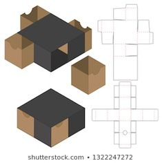 Find box template stock images in HD and millions of other royalty-free stock photos, illustrations and vectors in the Shutterstock collection. Origami Gift Box, Paper Crafts Origami, Diy Gift Box, Paper Gift Box, Paper Gifts, Gift Boxes, Box Template Printable, Paper Box Template, Origami Templates