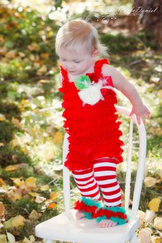 Christmas Romper  Red Romper   Christmas Baby by PoshPeanutKids, $28.00
