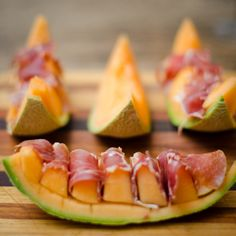Prosciutto wrapped cantaloupe #party #recipes