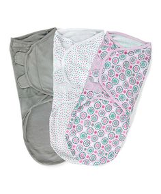 Take a look at this Pink Geometric Stage 2 SwaddleMe Sleeping Sack Set by Summer Infant on #zulily today!