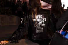 Fringe benefits of being in the #VSFashionShow: the iconic leather jacket. Get your own tomorrow.  @Lingeriedunet by victoriassecret https://instagram.com/p/944ebCGlcu/