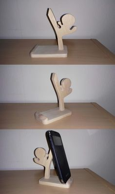 Mobile Phone holder Wood -2