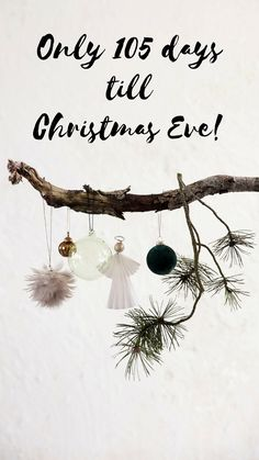 Only 105 days left until Christmas! Days Till Christmas, All Things Christmas, Christmas Eve, Day Left, Christmas Quotes, Crafty