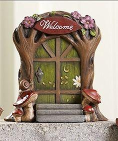 Giftcraft Miniature Garden Woodland Fairy Gnome Door - Welcome
