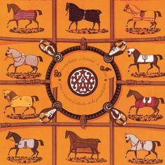 Orange Fabric | COUVERTURES ET TENUES DE JOUR | Equestrian Design | Hermes Paris | Fashion Brand | Wallpaper Design | Fabric Pattern