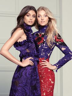 Elsa Hosk and Taylor Hill by Ishi for Fashion Magazine September 2015